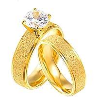 خاتم انيق من الذهب والتيتانيوم والفولاذ للجنسين