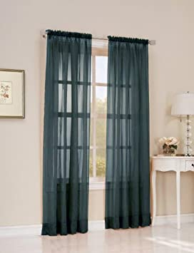 Easy Care Fabrics 2 Piece Wedgewood Sheer Voile Window Covering/Curtain/Drape/Panel/Treatment 51-Inch X 84-Inch MLA 104309.0