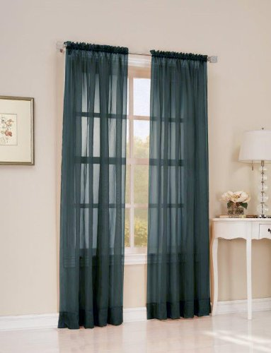 Easy Care Fabrics 2 Piece Wedgewood Sheer Voile Window Covering/Curtain/Drape/Panel/Treatment 51-Inch X 95-Inch MLA 104316.0