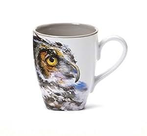 Amazon Com Dean Crouser Owl Stoneware Mug 16oz By Dean