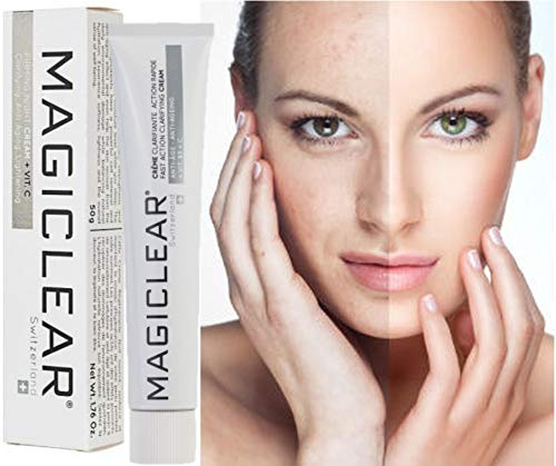 Luxury Fast Action Clarifying Whitening and dark spot remover face Cream.Organic, Moisturizing Cream for normal, dry and sensitive skin. Best Swiss brand Magiclear 50 ml. (Best Face Cream For Dry Face)