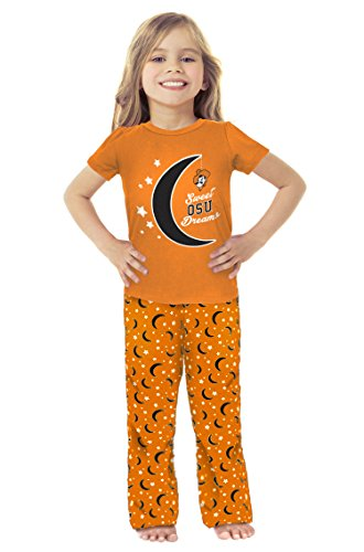 - Cheekie Peach NCAA Oklahoma State Cowboys Girls Infant Moon Pajama Set, 18-24 Months, Black