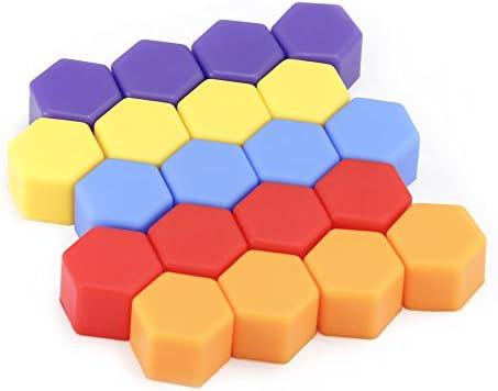 ホイール ナット カバー シリコン製 選べる カラー 3 サイズ (17mm/19mm/21mm) 20個 入り (21mm)
