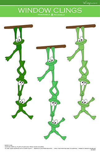 Frogs Window Cling (No.8237) (Frog Crafts For Kids)