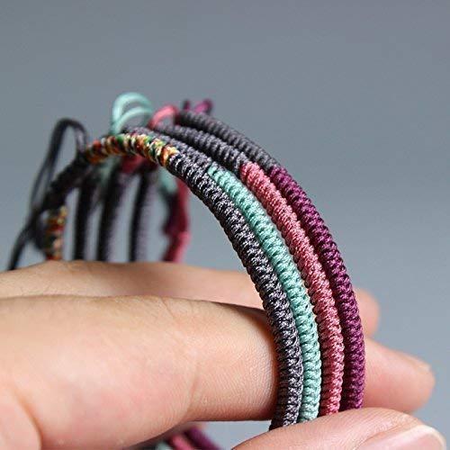 784d87a7bb TALE Lucky Rope Bracelet Tibetan Buddhist Handmade Knots - Happiness ...