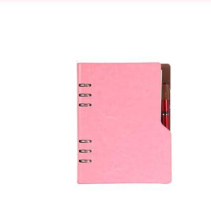 Cuaderno B5 Organizador de bolsillo de cuero para papelería ...