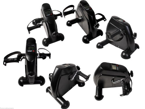 Goplus Mini Pedal Exerciser Cycle Fitness Indoor Exercise Bike 4 Leg/arm w/ LCD Display