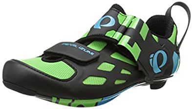 Pearl Izumi Men's Tri Fly V Carbon GF Cycling Shoe, Green Flash, 39 EU/6.1 C US