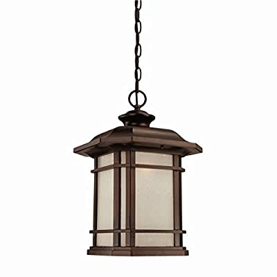 Acclaim 8126ABZ Somerset Collection 1-Light Outdoor Light Fixture Hanging Lantern, Architectural Bronze