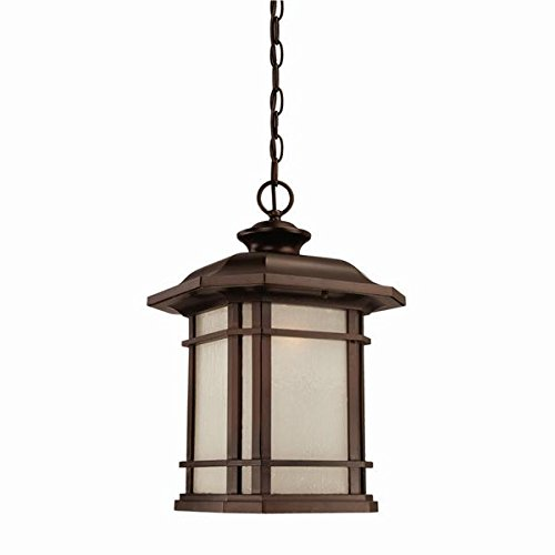 Acclaim 8126ABZ Somerset Collection 1-Light Outdoor Light Fixture Hanging Lantern, Architectural Bronze by Acclaim