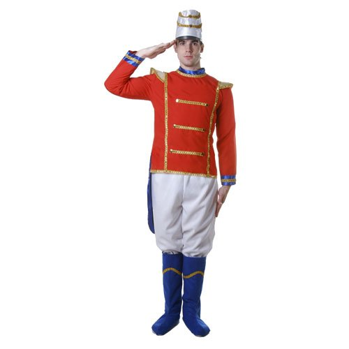 America Covers Boot (Dress Up America Adult Toy Soldier, Multi-Colored, Small)
