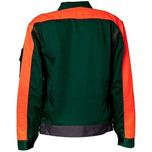 Planam 2412026 Visline V1 Blouson de travail Taille 26 en Vert/Orange/Ardoise