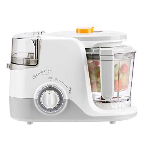 Gembaby Pro One Step Food Maker Multifunctional Instant-Heat Baby Food Processor-Vegetable Steamer, Cooker and Blender, Dishwasher Safe