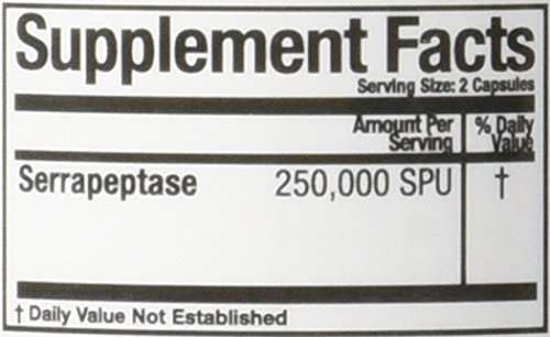 Arthur Andrew Medical Serretia Capsules, 500 mg, 90 Capsules