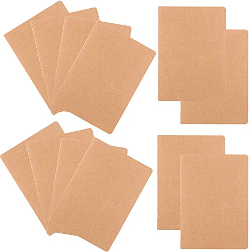 Notebook Cover Kraft - Z-Liant 12 Pack A5 Journals Diary Notebook Set : Kraft Brown Cover, 30 Sheets/60 Lined Pages.