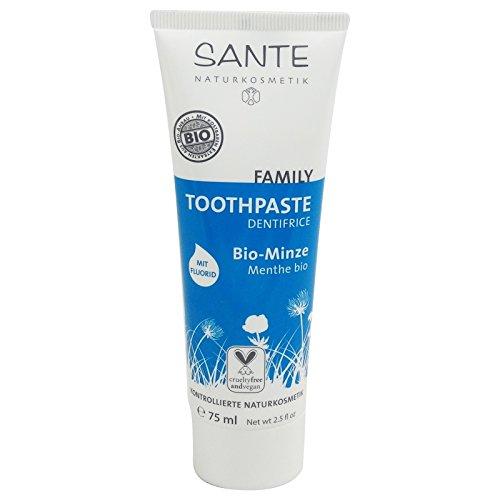 (Sante - Organic Mint Toothpaste with Sodium Fluoride - Vegan & Gluten Free)