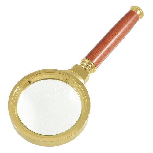 uxcell Rosewood Wooden Handle 60mm Dia 3X Magnifier Magnifying Glass