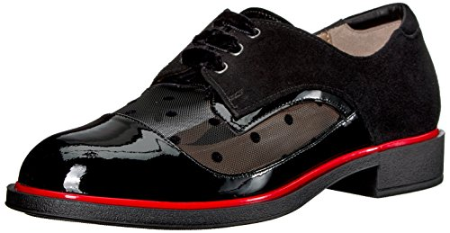Beautifeel Women's Tora Loafer, Black Patent/Polka Mesh Combination, 37 Medium EU (6 US)