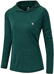 Rdruko Women's UPF 50+ Hoodie Pullover Workout Running Yoga Hiking Top Lightweight Long Sleeve Sweatshirts