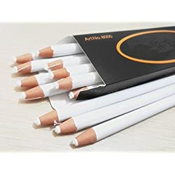 Markers Pencils, BeeSpring 12PCS Peel Off Markers Pencils Crayons Chinagraph Grease Wax Pencil For Glass, Cellophane, Cloth, Leather, Metal, Etc. (White)
