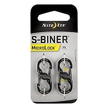 Nite Ize LSBM-01-2R3 S-Biner Micro Lock, Black, 2-Pack