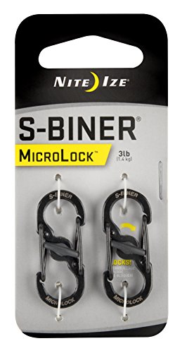 Nite Ize LSBM-01-2R3 S-Biner MicroLock Stainless Steel, 2-Pack, Black for $<!--$4.39-->