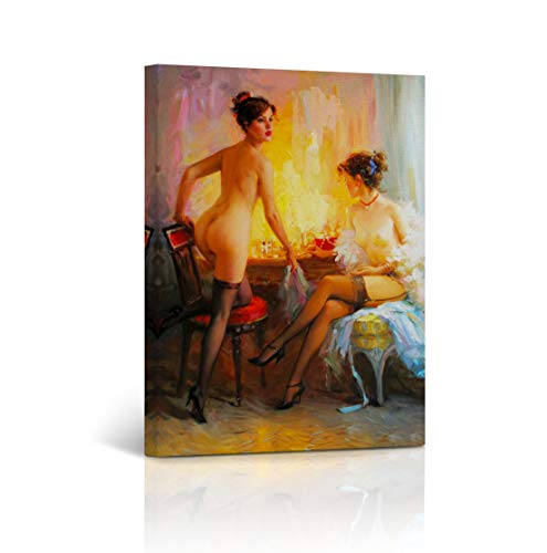 Buy4Wall Canvas Print Nude Art Sexy Women Vintage