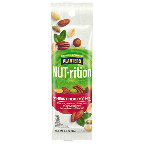 Planters Nutrition Heart Healthy Mix, 1.5 Ounce, Pack of 18