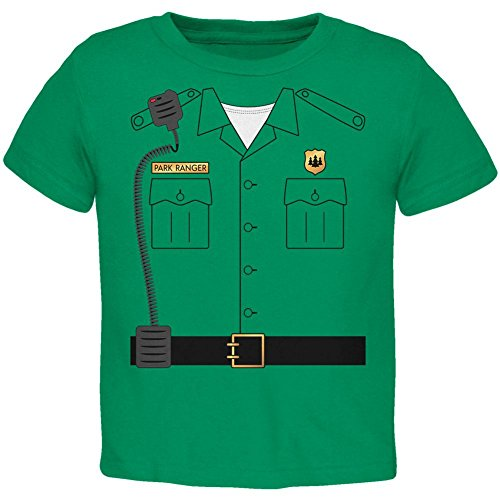 Halloween Forest Park Ranger Costume Toddler T Shirt Kelly Green 3T ()