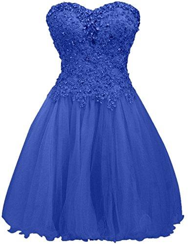Herzausschnitt Promkleider Brau Partykleider Promkleider Cocktailkleider La Kurzes 2018 Abendkleider mia Blau Royal Spitze qWT4FfwtZ