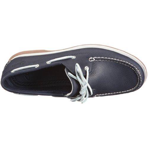 Clarks Quay Port 20343178 - Náuticos de cuero para hombre Azul (Navy Leather)