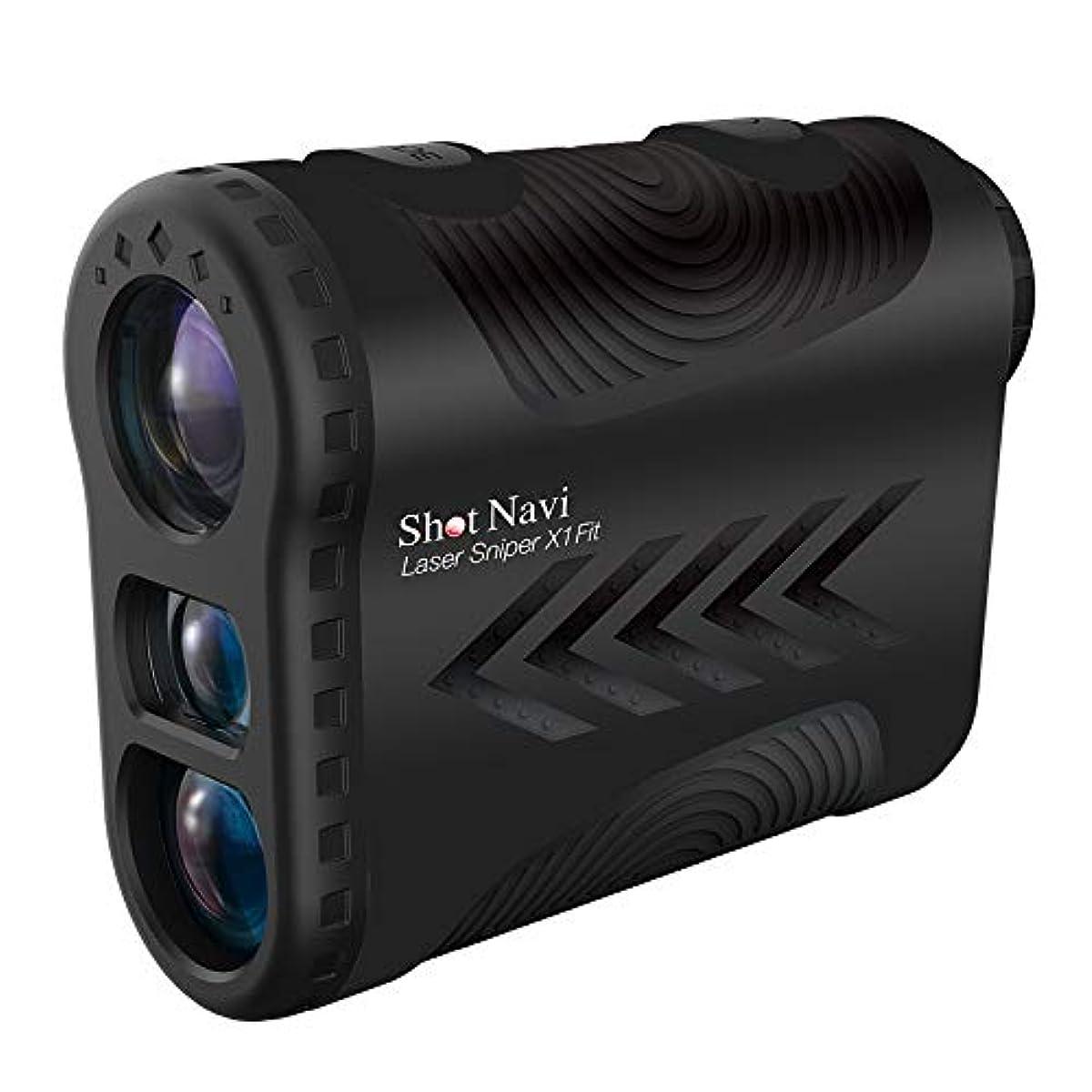 [해외] 쇼트 네비 SHOT NAVI 거리 측정기 레이저 스나이퍼X1 FIT 블랙
