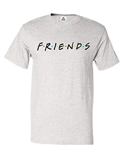Sheki Apparel We are Friends TV Show Men's T-Shirt (Ash, X-Large)
