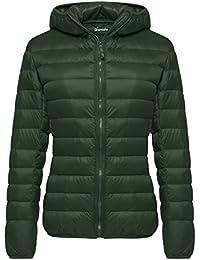 Women's Hooded Packable Ultra Light Weight Down Coat...