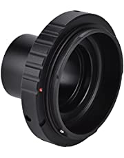 Acouto 1.25in Astronomical Telescope Mount Adapter T SLR Ring Camera Adapter for Canon Camera Lens