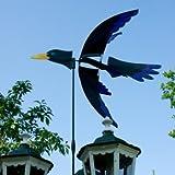 Windspiel - 5-Wing Rabe - UV-beständig und wetterfest - Windrad: Ø56cm, Motiv: 62x10cm Gesamthöhe: 110cm - inkl. Fiberglasstab und Bodendübel (Rabe)