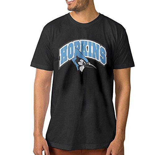 KISSUU Men's Tee Shirt Johns Hopkins University Black (Johns Hopkins Shirt)
