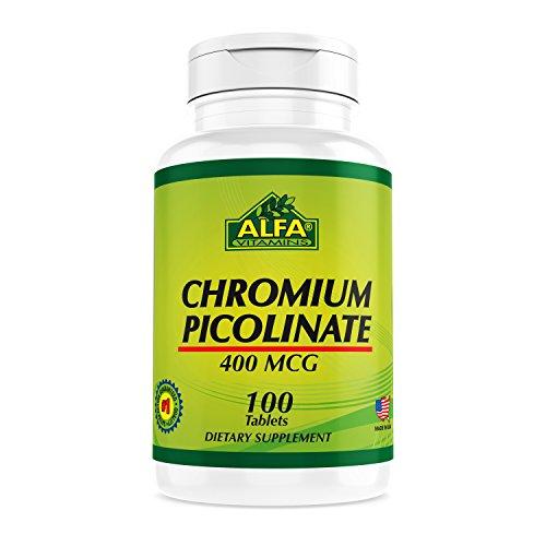 Chromium Picolinate 400 Mcg by Alfa Vitamins 100 Tablets