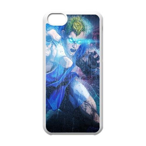 Street Fighter X Tekken Abel Magic Eyes Rain coque iPhone 5c cellulaire cas coque de téléphone cas blanche couverture de téléphone portable EEECBCAAN03981