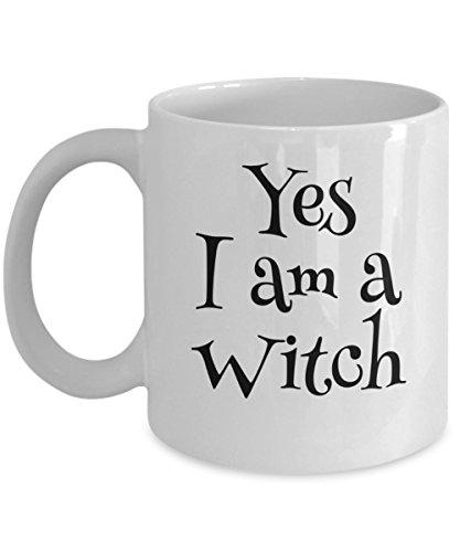 Halloween Themed Gift - Yes I am a Witch Fandom Coffee Mug Tea Cup - Nerdy Coffee -