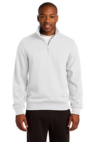 Sport-Tek Men's 1/4 Zip Sweatshirt XXL White