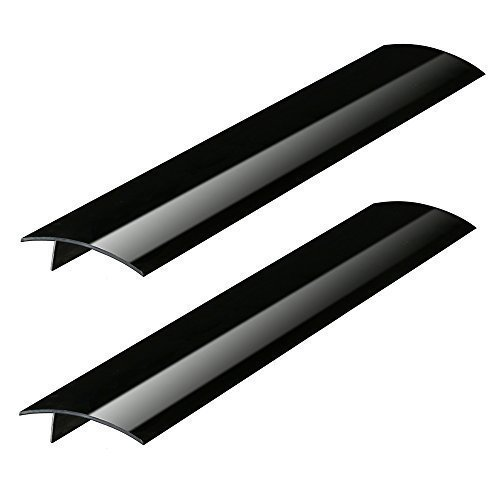 Plum Hill Silicone Stove Counter Gap Covers - Black (2 Pack)