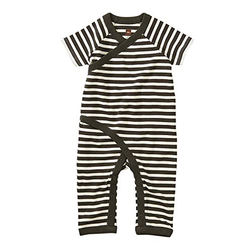 Tea Collection Wrap Romper, 0 to 3 Months, Iron