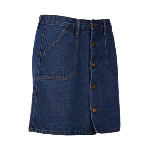 Denim Haute Courtes Mini Sexy Femmes Boy Cow Bleu Bleu Taille d't ESAILQ Poches vBFHa