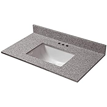 Design House 551333 31X19-Inch Marble Vanity Top with Bowl ...
