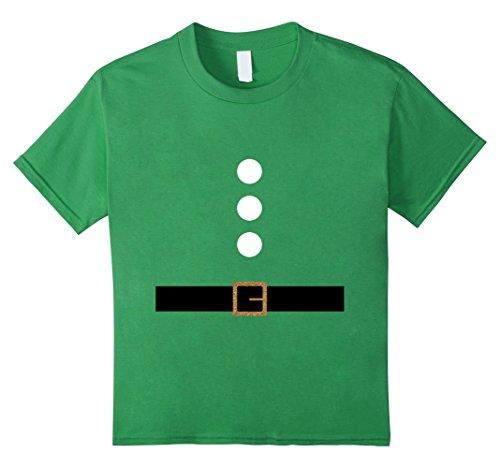 Gnome Costume Diy Girl (Kids Cute Christmas Elf Gnome Dwarf DIY Costume T Shirts 10 Grass)