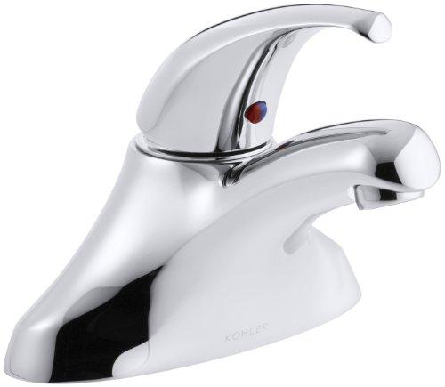 KOHLER K-15199-P-CP Coralais Single Control Centerset Lavatory Faucet, Polished Chrome (Centerset Control Single Coralais)