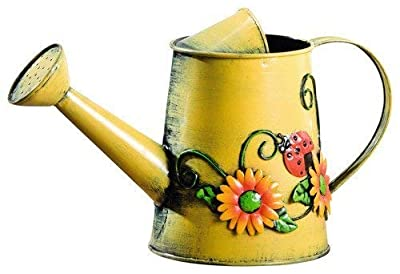 Charm & Chic Decorative Sunflower & Ladybug Metal Watering Can
