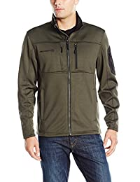 Free Country Men's Active Fleece Solid with Contrast Sleeve Patch