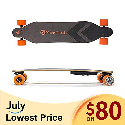 Maxfind 38'' Electric Skateboard 600W Motor Electronic Longboard,Max Speed 18.6MPH,Max Range 8miles (maxa)